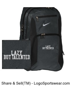Nike lazy but talented backpack Design Zoom